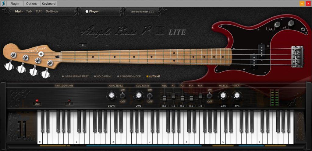 Ample Sounds Bass P Lite gratis basgitaar plugin