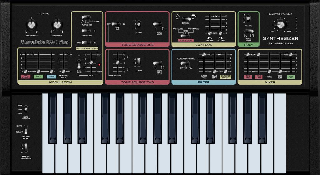 Cherry Audio MG-1 Plus Analoge Synthesizer Plugin